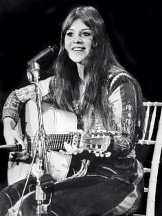 Melanie at Woodstock 1969.