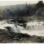 1905 picture of falls at Scotts Mills, Oregon courtesy of Oregon State Archives.