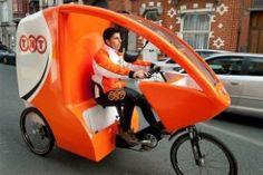 TNT Express met elektrische vrachtfiets in Brussel