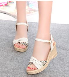 e75b5a90c5e7 Trendy Stylish Ankle Summer Wedges Cute Wedges Shoes