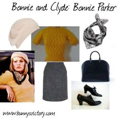 Film Fashion Friday's on Bunny's Victory: Bonnie Parker from Bonnie and Clyde