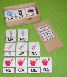 Lectografia, una forma diferente de trabajar las silabas para cuando los niños están empezando con la lectoescritura.