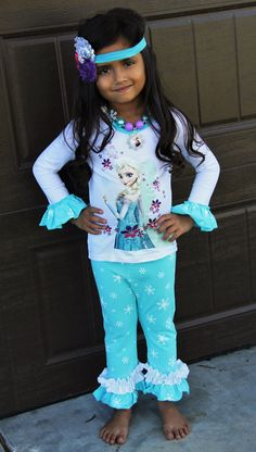 Frozen Inspired Boutique Outfit from Sparkle in Pink