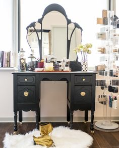 VALSPAR Rehab project: A girly + glam art deco vanity — The Decorista