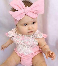 Pink Floral Lace Romper