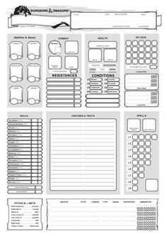 Discover recipes, home ideas, style inspiration and other ideas to try. Dungeons And Dragons 5e, Dungeons And Dragons Characters, Dungeons And Dragons Homebrew, D D Characters, Character Sheet Template, Dnd Character Sheet, Game Concept, Concept Art, Dungeon Master's Guide