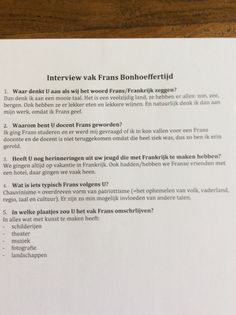 Interview mevrouw Waltman.  Vak: Frans