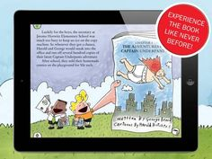 The Adventures of Captain Underpants [ages: 6+, iPad] - an interactive adaptation of the book by Dav Pilkey. Original Appysmarts score: 92/100 #kids #apps