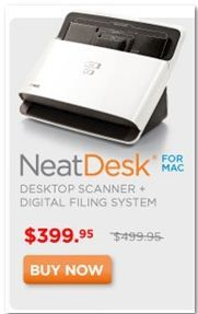 NeatDesk for Mac is the high-speed scanner and software combination that will help you clean off your desk and organize all your important information on the Mac.
