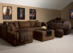 LoveSac Couch and The Big Sac great for a playroom or man room ;)
