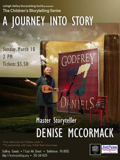 Join me for an afternoon of family stories and song at the ever-popular Godfrey Daniels in Bethlehem, PA.