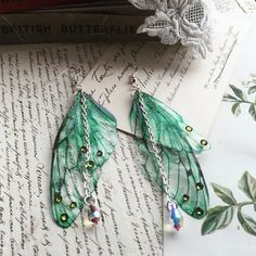 Butterfly Dragonfly Faerie Wing Craft Jewellery Earring HairClip Necklace Making