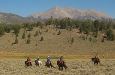 Horse Vacations for Men & Women - for couples or individuals, the rides are active and the scenery in our part of Wyoming is stunning. #Wyoming