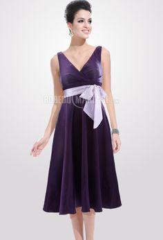 87ffcc101a0 Col en v nœud papillon ceinture satin robe mère de mariée pas cher    ROBE207371