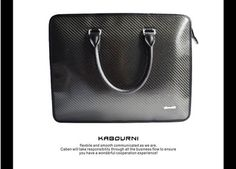 Super good looking new fashion custom gift business messenger bag real carbon fiber TPU men briefcase with competitive price