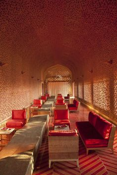 Lounge area at the Devi Ratn hotel in Jaipur, India designed by Aniket Bhagwat
