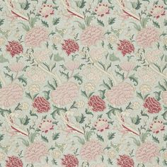 The Original Morris & Co - Arts and crafts, fabrics and wallpaper designs by William Morris & Company | Products | British/UK Fabrics and Wallpapers | Cray (DMY180203) | Morris Volume III