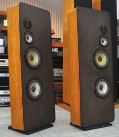 "Infinity RSIII vintage Infinity Speakers circa 1981-1983 with EMIT Tweeter and Dual 8"" polypropylene woofers"