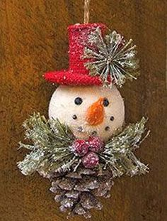 Creative Snowman Christmas Decoration Ideas 25 Snowman Christmas ornaments are really popular these days and are a must have for this year's festive season. Snowman Christmas Decorations, Snowman Crafts, Ornament Crafts, Christmas Centerpieces, Christmas Snowman, Christmas Projects, Handmade Christmas, Christmas Tree Ornaments, Holiday Crafts