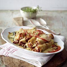 Cannelloni Bolognese alla Norma Rezept