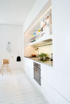 Galley Kitchen / Architect Anne Bøttigers