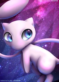Mew (Inktober Touch-Up) by Parastatic on DeviantArt Flareon Pokemon, Mew And Mewtwo, My Pokemon, Pokemon Fan Art, Pokemon Cards, Deadpool Pikachu, Pikachu Art, Cute Pikachu, Cool Pokemon Wallpapers