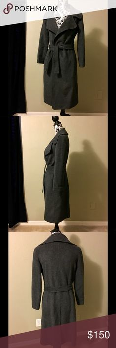 Grey Max Mara cashmere blend coat SZ S EUC Only worn once, in perfect condition. Moved to the south and don't have the weather to wear this. Extremely soft material and flattering cut. MaxMara Jackets & Coats