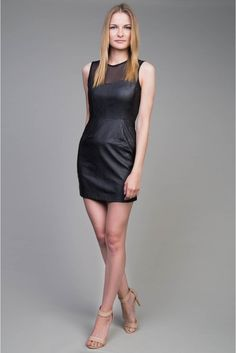 Sexowna sukienka mini  #black #leather #mini #dress #depare
