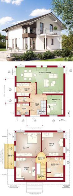 Fertighaus im modernen Alpenstil-Design - Haus Evolution 143 V5 Bien Zenker - Einfamilienhaus mit Satteldach bauen- HausbauDirekt.de