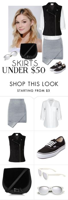 """""""skirts under $50 outfit"""" by elizaja68 ❤ liked on Polyvore featuring Neutrogena, Vans, Yves Saint Laurent, under50 and skirtunder50"""