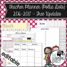 Get organized each school year with this teacher planner set! With over 400 pages, you get weekly planning pages, monthly calendars, curriculum mapping pages, and much more!** Updated for the 2016 - 2017 school year. **Buy with confidence. Any updates / additions for the set will be uploaded to TpT and you will be able to redownload the files for free - every single year! {Updates for the 2017-2018 school year will be uploaded no later than June 2017.}This set comes with 11 different…