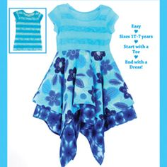 Download Tee Time Make Over: Handkerchief Dress 1yr-7yr Sewing Pattern | Featured Products | YouCanMakeThis.com