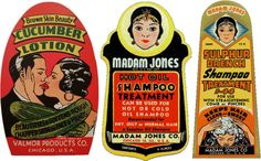 spicyhorror:  1930s Valmor Products labels
