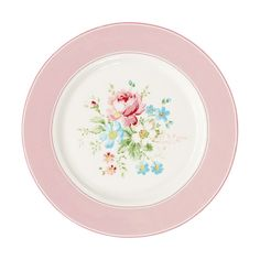 Greengate Stoneware Plate Marie Pale Pink D 20.5 cm