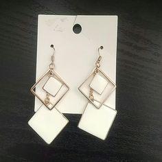Geometric Dangle Earrings Never worn. Dangling earrings with three squares. Slightly heavy. H&M Jewelry Earrings