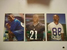 Lot of 3 1999 Skybox Premium Rookies Holt - Bailey - Zereoue