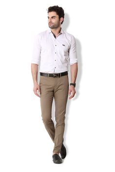Give yourself an ultra-modern casual look with these brown coloured chino pants from KOZZAK. Mens Chino Pants, Khaki Pants, Casual Looks, Amazon, Brown, Modern, Color, Style, Fashion