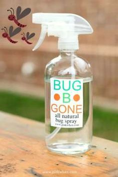 Keep the mosquitoes and bugs away with this all natural bug b gone bug spray. Simple to make, and smells good, too!