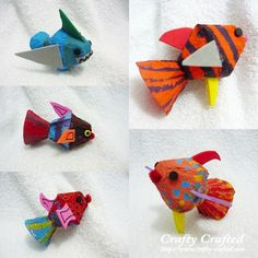 MollyMooCrafts Easter Craft Round-Up: 15 Egg Carton Crafts
