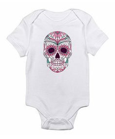 Love this White & Pink Skull Bodysuit - Infant by Love you a Latte on #zulily! #zulilyfinds
