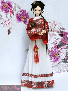 Loongsoul Doll Mengli in a Ming Dynasty Ao skirt. © Stacy's Pink ..