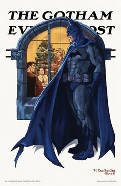 Batman Norman Rockwell's Iconic Saturday Evening Post Covers