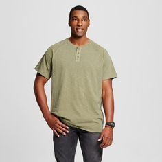 Men's Big & Tall Short Sleeve Henley T-Shirt - Mossimo Supply Co.