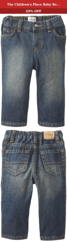 The Children/'s Place Little Boys and Toddler Pull-On Jean Aged Stone 2T