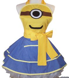 Minion Apron  Pin Up Style by WellLaDiDa on Etsy, $48.00....I want!