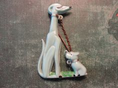 FREE US SHIPPING  Vintage Doggy Brooch by PhoenixandCoJewelry, $30.00