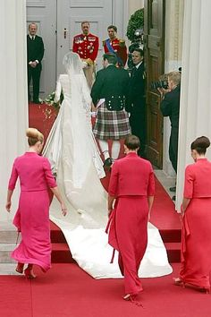 The wedding of Crown Prince Frederik and Mary Donaldson took place on May 14th 2004 in the Copenhagen Cathedral. They got engaged on October 8th 2003.