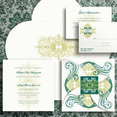 Royal Emblem wedding invitation suite from MagnetStreet #intricate #personalized #flourish