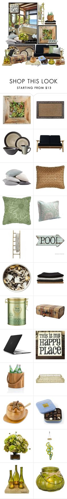 """Pick a Planter! Boracay, Philippines"" by anmarga ❤ liked on Polyvore featuring interior, interiors, interior design, home, home decor, interior decorating, Sango, Rove Concepts, Coyuchi and Pyar & Co."