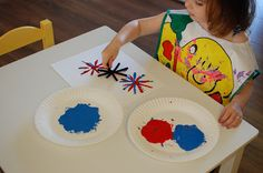 Pipe cleaner Firework Paining
